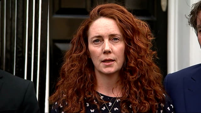 channel 4 news review of the year r26061415 / ext rebekeh brooks ouside house - channel 4 news stock videos and b-roll footage