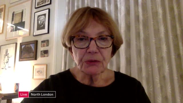 channel 4 news special: coronavirus: are we doing enough?; england: london: gir: reporter to camera baroness bakewell live 2-way interview via the... - joan bakewell stock videos & royalty-free footage