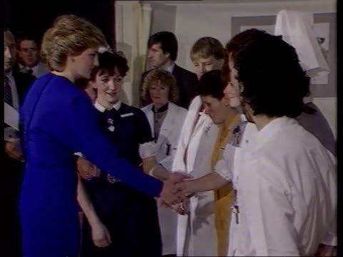 Channel 4 News Special on the death of Diana Princess of Wales Channel 4 News Special on the death of Diana Princess of Wales LIB Middlesex Hospital...