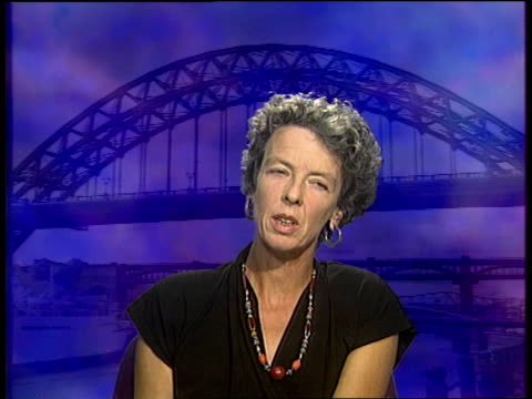 channel 4 news special on the death of diana, princess of wales; itn newcastle: bea campbell intvw - she brought to the royal family a populist... - fascino video stock e b–roll