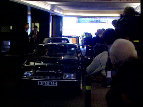 Channel 4 News Special on the death of Diana Princess of Wales LIB Hilton Hotel Princess of Wales arrives at bldg and speech At end of this year when...