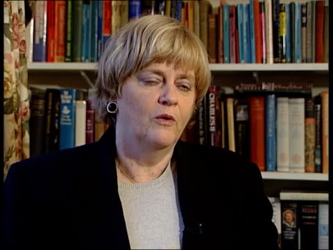channel tunnel - police crack romanian refugee smuggling gang; england: london: westminster: int ann widdecombe mp interview sot - people will go on... - ann widdecombe stock videos & royalty-free footage