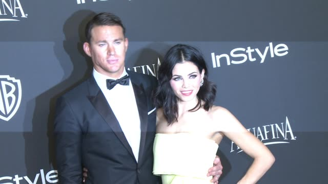 Channing Tatum and Jenna Dewan at 16th Annual InStyle And Warner Bros Golden Globe AfterParty on January 11 2015 in Beverly Hills California