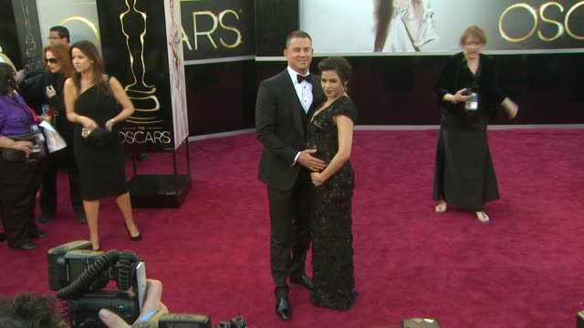 Channing Tatum and Jenna Dewan at 85th Annual Academy Awards Arrivals in Hollywood CA on 2/24/13