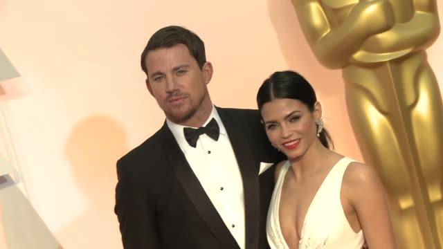 Channing Tatum and Jenna Dewan at 87th Annual Academy Awards Arrivals at Dolby Theatre on February 22 2015 in Hollywood California