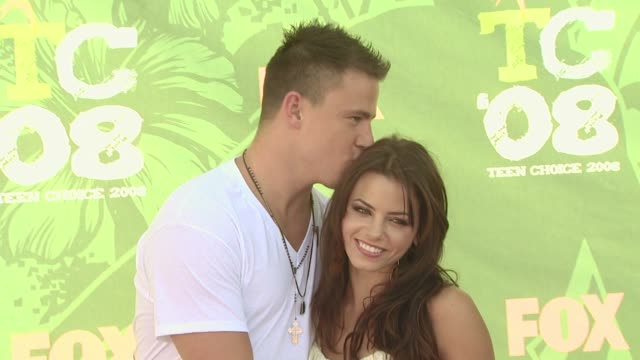 Channing Tatum and Jenna Dewan at the 2008 Teen Choice Awards at Los Angeles CA