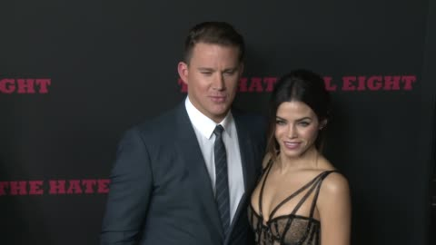 """channing tatum and jenna dewan tatum at """"the hateful eight"""" world premiere at arclight cinemas on december 07, 2015 in hollywood, california. - arclight cinemas hollywood stock videos & royalty-free footage"""