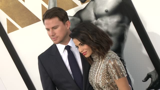 Channing Tatum and Jenna Dewan Tatum at The Los Angeles World Premiere of Warner Bros Pictures' Magic Mike XXL at TCL Chinese Theatre on June 25 2015...