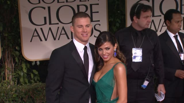 Channing Tatum and Jenna DewanTatum at 69th Annual Golden Globe Awards Arrivals on January 15 2012 in Beverly Hills California