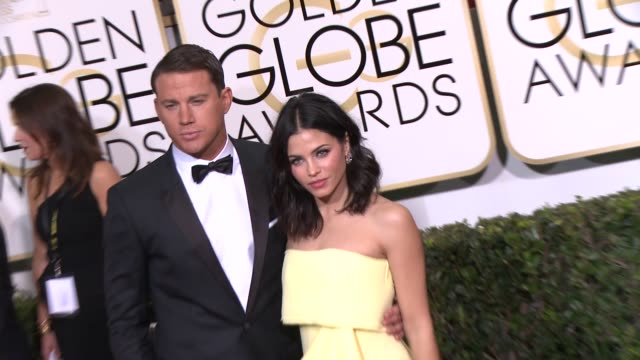 Channing Tatum and Jenna DewanTatum at the 72nd Annual Golden Globe Awards Arrivals at The Beverly Hilton Hotel on January 11 2015 in Beverly Hills...