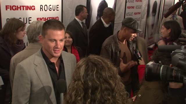 channing tatum and terrence howard at the world premiere of 'fighting' at new york ny. - terrence howard stock videos & royalty-free footage