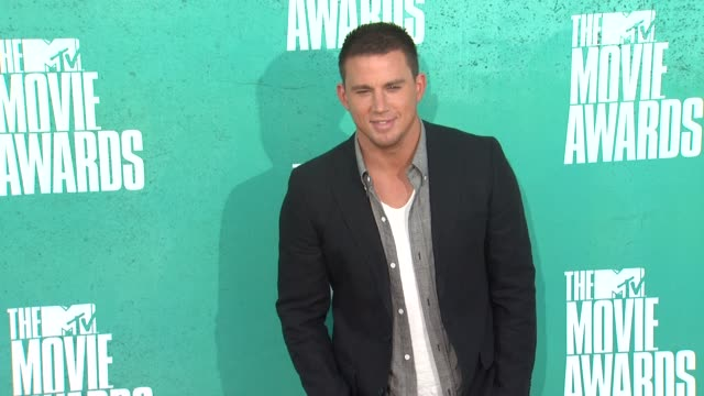 channing tatum at 2012 mtv movie awards - arrivals at gibson amphitheatre on june 03, 2012 in universal city, california - gibson amphitheatre stock-videos und b-roll-filmmaterial