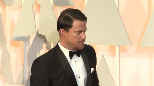 vídeos de stock e filmes b-roll de channing tatum at 87th annual academy awards arrivals at dolby theatre on february 22 2015 in hollywood california - ágata