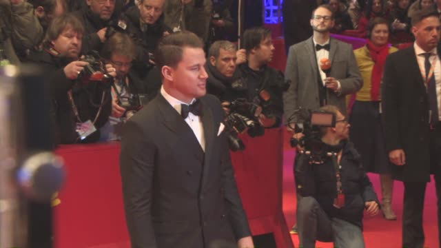 vídeos de stock, filmes e b-roll de channing tatum at 'hail caesar' opening ceremony red carpet 66th berlin international film festival at berlinale palast on february 11 2016 in berlin... - formato bruto