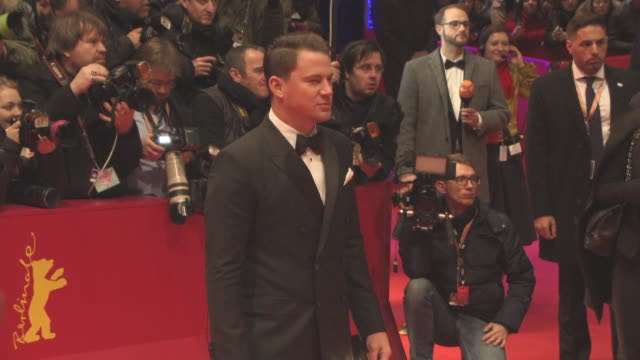 Channing Tatum at 'Hail Caesar' Opening Ceremony Red Carpet 66th Berlin International Film Festival at Grand Hyatt Hotel on February 11 2016 in...