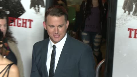 """channing tatum at """"the hateful eight"""" world premiere at arclight cinemas on december 07, 2015 in hollywood, california. - arclight cinemas hollywood stock videos & royalty-free footage"""