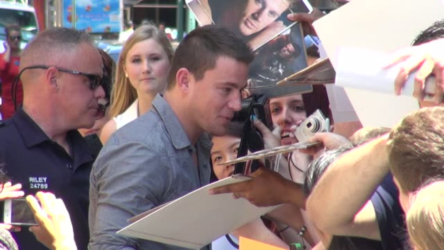 Channing Tatum at the 'Late Show with David Letterman' studio in New York NY on 06/27/12