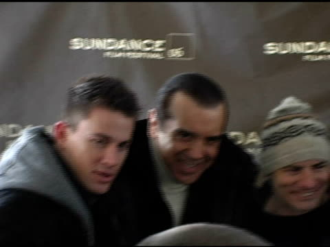 Channing Tatum Chazz Palminteri Dito Montiel Robert Downey Jr and Shia LaBeouf at the 2006 Sundance Film Festival 'A Guide To Recognizing Your...