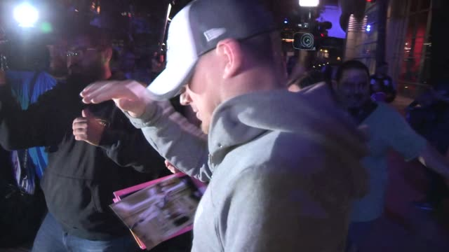 Channing Tatum greets fans after the LA Kings vs NY Rangers Game 5 Stanley Cup Finals at the Staples Center in Los Angeles Celebrity Sightings in Los...