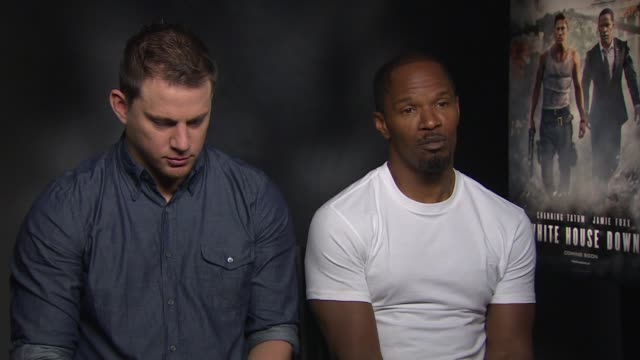 INTERVIEW Channing Tatum Jamie Foxx on directing his first feature film at 'White House Down' Junket INTERVIEW Channing Tatum Jamie Foxx on on...