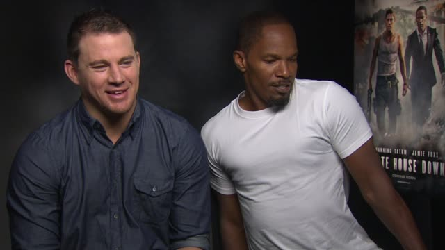 INTERVIEW Channing Tatum Jamie Foxx on joking about trying out for Magic Mike 2 and dances at 'White House Down' Junket INTERVIEW Channing Tatum...