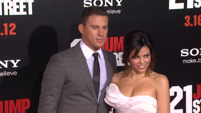 Channing Tatum Jenna Dewan at 21 Jump Street Los Angeles Premiere on 3/13/12 in Hollywood CA