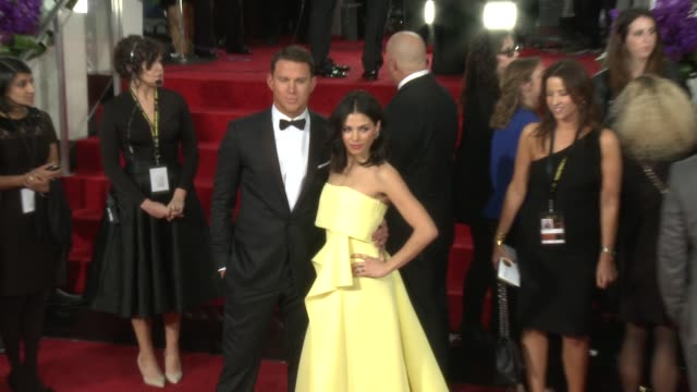Channing Tatum Jenna Dewan Tatum at 72nd Annual Golden Globe Awards Arrivals at The Beverly Hilton Hotel on January 11 2015 in Beverly Hills...
