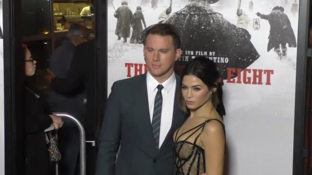 Channing Tatum Jenna Dewan Tatum at the Hateful Eight Premiere at ArcLight Theatre in Hollywood in Celebrity Sightings in Los Angeles