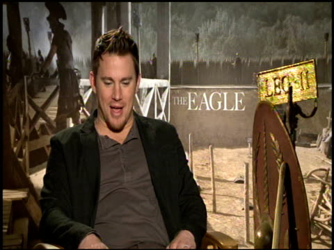 Channing Tatum on being selfish when it comes to doing his own stunts at the 'The Eagle' Junket at Hollywood CA