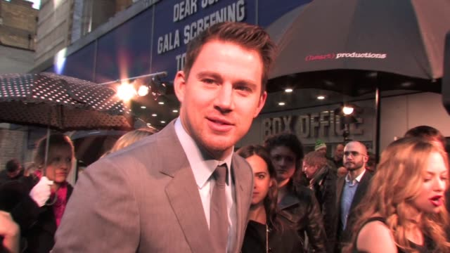 Channing Tatum on his character on working with Amanda Seyfried on choosing to work on a romantic drama at the Dear John UK Premiere at London England