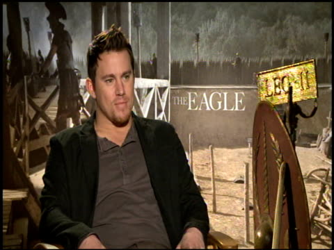 Channing Tatum on his luck to have been able to play a lot of different roles at the 'The Eagle' Junket at Hollywood CA