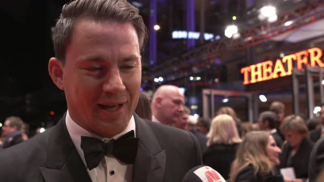 INTERVIEW Channing Tatum on not seeing Berlin City the script tap dancing Coen brothers his character at 'Hail Caesar' Opening Ceremony Red Carpet...