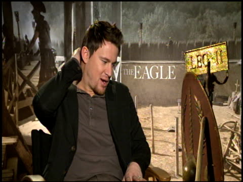 Channing Tatum on the most challenging stunts he had to perform at the 'The Eagle' Junket at Hollywood CA