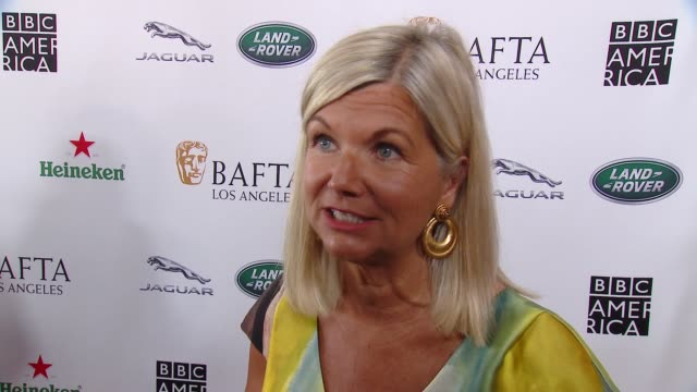 interview chantal rickards on hosting another bafta la tv tea party what she is most looking forward to why brits are such a vital part of the... - bafta la tea party stock videos and b-roll footage