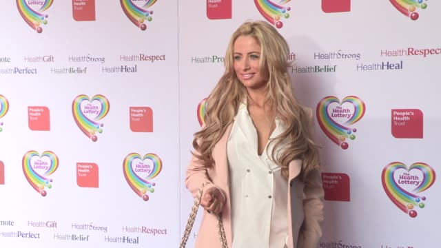 chantelle houghton at health lottery launch at claridge's hotel on march 28, 2013 in london, england - claridge's stock videos & royalty-free footage