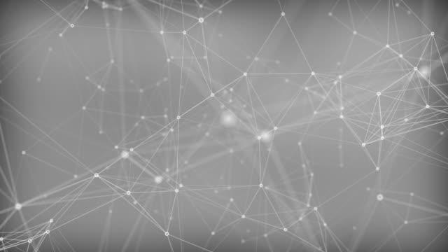 カオス接続 - 平面形点の映像素材/bロール