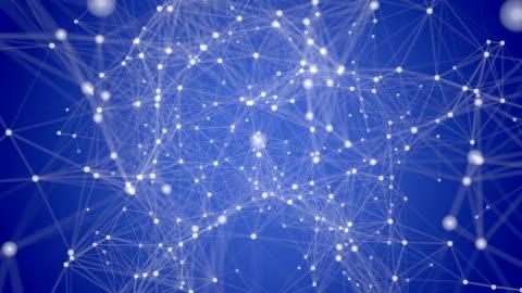 混沌としたネットワーク - 分散点の映像素材/bロール
