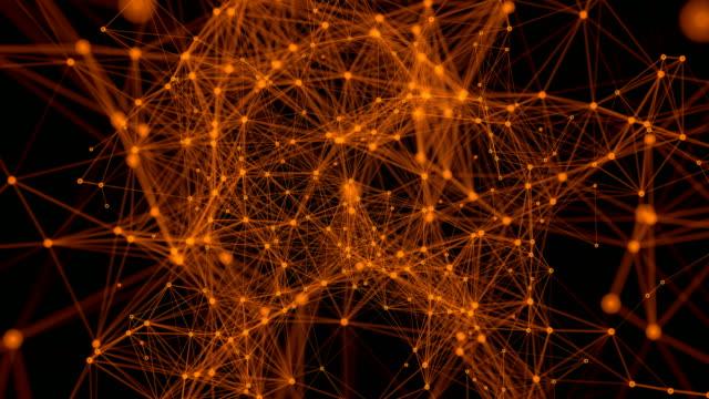 混沌としたネットワーク - ゼンタングル模様点の映像素材/bロール
