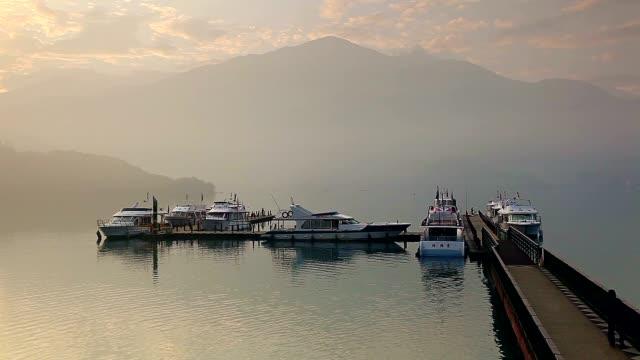 chaowu wharf, sun moon lake, taiwan - sun moon lake stock videos and b-roll footage