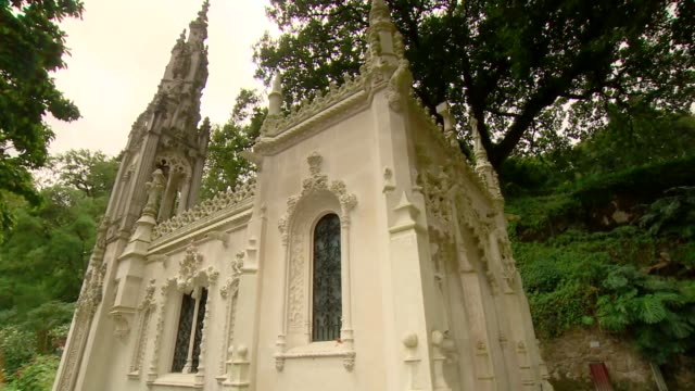 chapel in quinta da regaleira in sintra - chapel stock videos & royalty-free footage