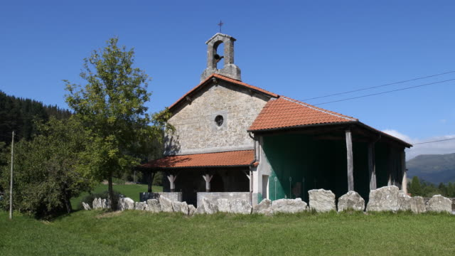 chapel santa maria de elosiaga - christian ender stock-videos und b-roll-filmmaterial