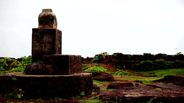 chapora fort close up, goa - medieval stock videos & royalty-free footage