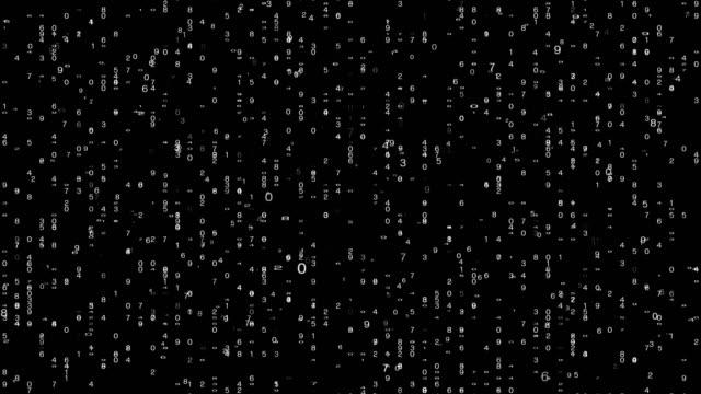 character binary code symbol - bianco e nero video stock e b–roll