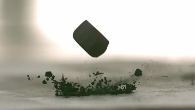 charcoal falling - phantom miro - coal video stock e b–roll