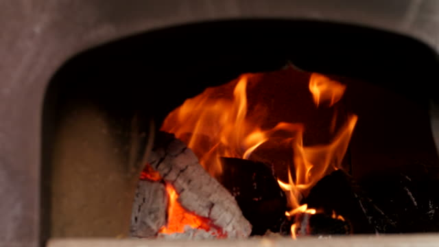 charcoal fire stove  in christmas market - ireland stock videos and b-roll footage