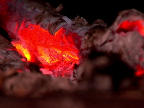 charcoal heat (loopable, pal, close up) - anthracite coal stock videos & royalty-free footage
