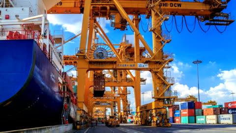 containerfartyg - upptagen bildbanksvideor och videomaterial från bakom kulisserna