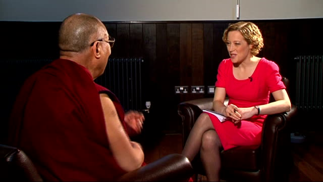 Charges of ethnic cleansing attacks on Rohingya Muslims ENGLAND Cambridge INT His Holiness the Dalai Lama interview on Buddhist violent attacks on...