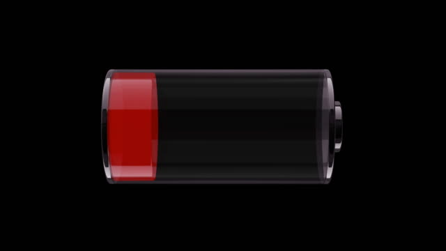 ms charging battery indicator. 3d animation. - lithium ion battery stock videos & royalty-free footage