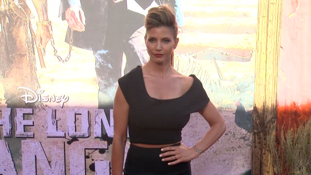 charisma carpenter at the lone ranger los angeles premiere charisma carpenter at the lone ranger los angele at disney california adventure park on... - the lone ranger 2013 film stock videos and b-roll footage